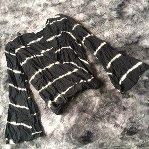 Lovestitch Dye Bell Sleeve Wrap Top